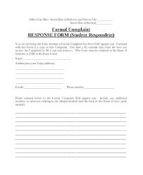 Complaints Letter Format Legal Complaint Example