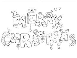Blank Christmas Coloring Pages Merry Coloring Pages Blank Christmas