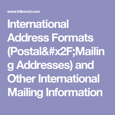international mailing address format international address formats postal mailing addresses and other