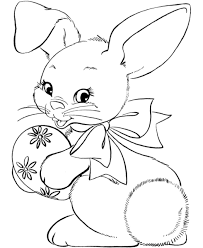 Easter Bunny Face Coloring Page Coloring Cartoon Easter Face Baby