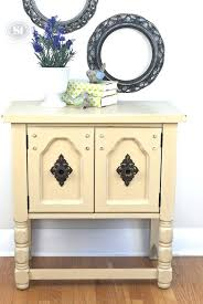 chalk painted side tables painted side table w mustard annie sloan chalk paint coffee tables