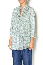 Rock Flower Paper Pintuck Cotton Tunic