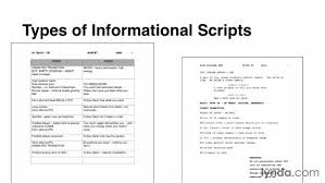 Identifying Types Of Informational Scripts
