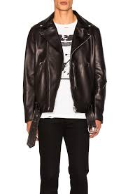 image 1 of acne studios nate clean leather jacket in black