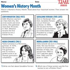Womens History Month Printables Time For Kids Girl Scouts