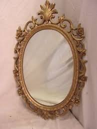 Vintage victorian RESIN mirrorframe 18 12 x 28 12 mirror 14 12 x