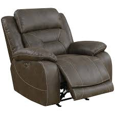 leather glider silver aria faux recliner in saddle brown best with ottoman true innovations swivel costco leather glider recliner
