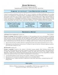 Accounting Resume Cover Letter Forensic Accountant Resume Resumes and Cover Letters 63