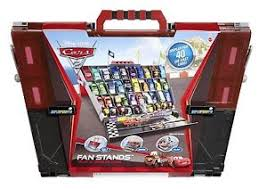 Disney Cars Fan Stand Display Case Disney Cars 100 Fan Stand Play N Display Carry Case Race SUPER CHASE 6
