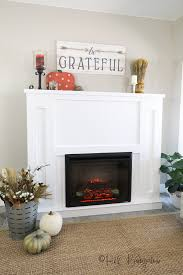 tutorial to build a diy fireplace with an electric insert plans a and