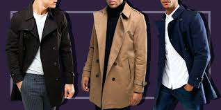 mens trench coat with fur collar trench coats mens leather trench coat with fur collar