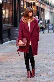 ejstyle jonothan saunders edition debenhams wine boucle coat schuh wine ankle boots black