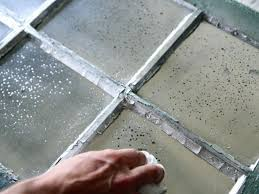 allow mirrored spray paint to dry for 15 minutes then wipe with a dry cloth