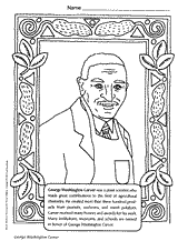 George Washington Carver Coloring Page New Years Black History