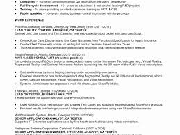 Sample Resume For 3 Years Experience In Selenium Testing