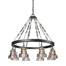 troy lighting menlo park 8 light old silver pendant