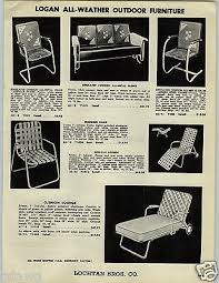 1955 paper ad logan all metal outdoor