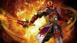 dota 2 ember spirit fighter sword fire jewelry game fan art