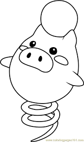 Small Picture Spoink Pokemon Coloring Page Free Pokmon Coloring Pages