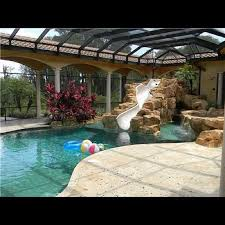 Fine Indoor Pool House With Slide Would You Have This In Your And Decorating Ideas