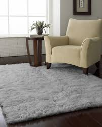 district17 flokati standard rug in natural grey rugs solid grey furry rug