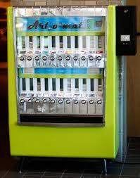 Vending Machine Deaths Best Artomat Uses Old Cigarette Machines To Dispense Art Visual Arts