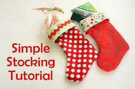 Christmas Stocking Sewing Pattern Custom Easy DIY Stocking Tutorial