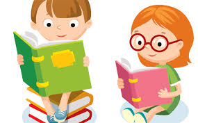 kid reading clipart png