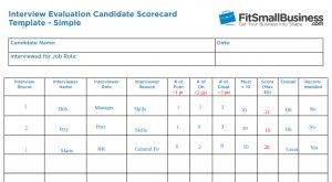 11 Free Interview Evaluation Forms Scorecard Templates