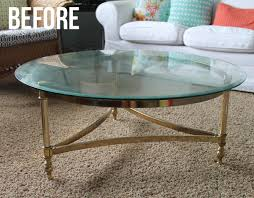 brass coffee table makeover the craft