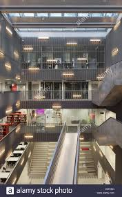 Suspended Walkway Design Staircases And Suspended Walkway With Library And Offices