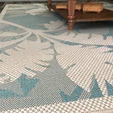 brilliant odilia coastal flora ivoryturquoise indooroutdoor area rug pertaining to coastal area rug
