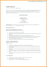 Cashier Resume Template Resume Of Cashier Airexpresscarrier Com