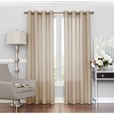 Commonwealth Rhapsody Lined Solid Sheer Grommet Curtain Panel   Hayneedle