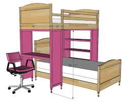 dimensions bunk bed desk