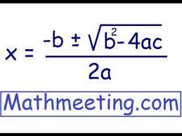 solve quadratic equations using
