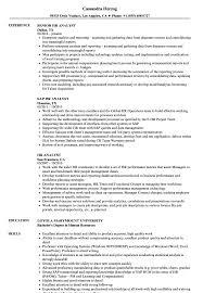 Sample Resume For Hr HR Analyst Resume Samples Velvet Jobs 18