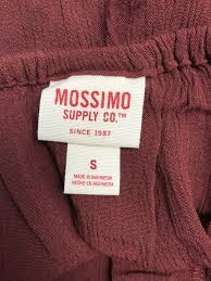 Mossimo Supply Co Womens Maroon Sleeveless Dress Size