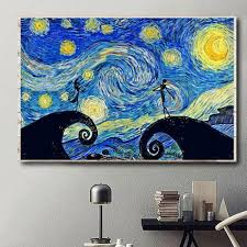 Fast shipping, custom framing, and discounts you'll love! Jack And Sally Starry Night Horizontal Canvas Halloween Decor