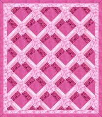 I'm going to make this someday and add borders to make it queen ... & Think Pink quilt - free instructions. Adamdwight.com