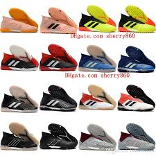 2019 2018 mens leather soccer shoes predator tango accelerator 18 in tf turf football boots indoor soccer cleats chuteiras pogba original from hotshoes