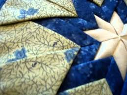 Amish Quilted Folded Star Hot Pad Blues | quilting | Pinterest ... & Amish Quilted Folded Star Hot Pad Blues Adamdwight.com