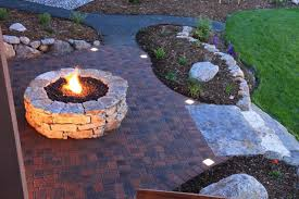 install a paver patio with solar lights