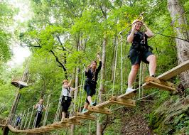 outdoor activities. Tourists And Adventurers Are Swept Away By The Many Outdoor Recreation Activities Pursuits Available In