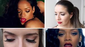 rihanna makeup tutorial can t remember to forget you por larissa scramin