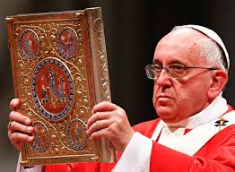 Image result for images of the pope and the bible