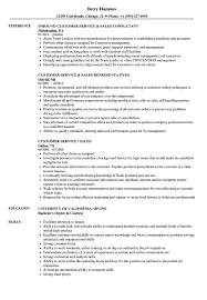 Sample Resume For Inbound Customer Service Representative Customer Service Sales Resume Samples Velvet Jobs 30