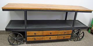 industrial tv stand. Vintage Industrial Furniture :: CCIND-149 Metal TV Stand On Wheels - ARTeFAC Tv T