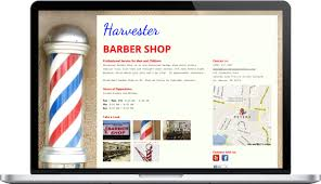 Barber Shop Website How Harvester Barber Shop Used Onepager To Bring An Old Fashioned