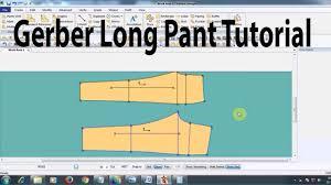 Cad Cam Computer Pattern Designing Gerber Pant Tutorial Pant Design By Gerber Software Mens Pant Tutorial Garments Pattern Cad